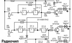 Автомобильный индикатор напряжения на К561ЛН2