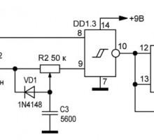 Регулируемый генератор на CD4093