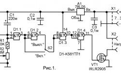 Схема простых таймеров с полевым транзистором на выходе