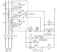 Комбинированная защита асинхронного двигателя на реле и тиристоре