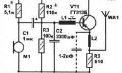 Радиомикрофон на одном транзисторе