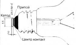 Диод таблетка для лампочки