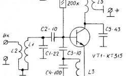 Конвертер ФМ на одном транзисторе