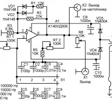 Лабораторный генератор низкой частоты