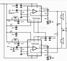 Мощный стерео усилитель на tda7294 80 Вт