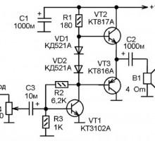 Простейший усилитель звука для усиления сигнала с выхода ПК или МП 3 плеера