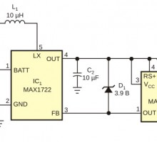 Питание светодиода от 1.5 вольт схема
