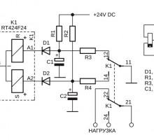 Управление реле переключателем без активных электронных компонентов