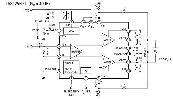 Ta8225h схема усилителя
