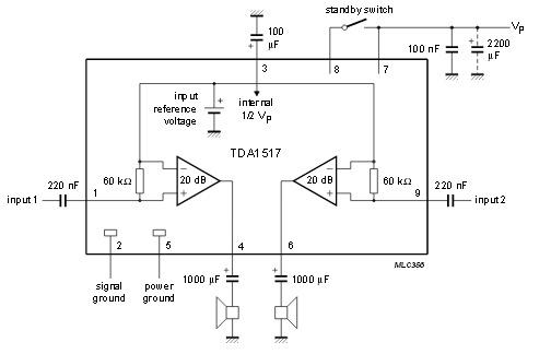 TDA1517 микросхема TDA1517