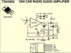 Микросхема TDA2003 усилитель ниской частоты