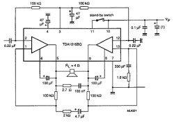 TDA1515 усилитель