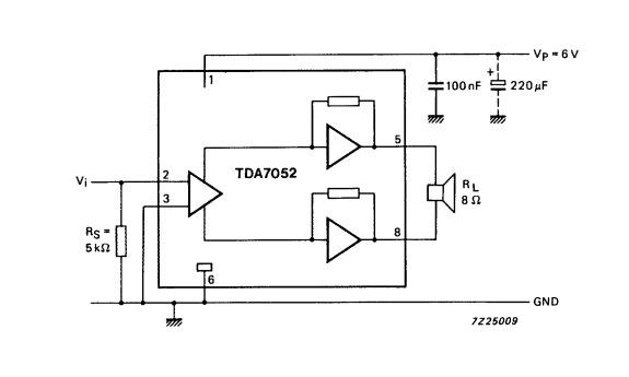 TDA7052 схема включения