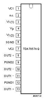 Схема включения tda7057