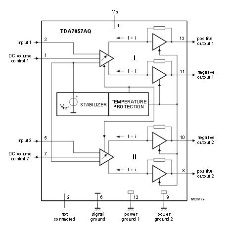 Tda7057 схема включения