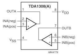 TDA1308T усилитель мощности