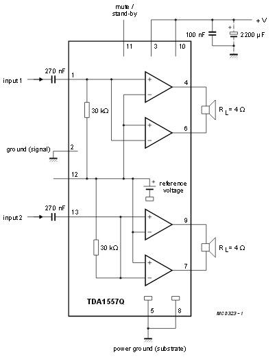 TDA1552Q микросхема
