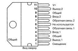 LM377, усилитель, микросхема