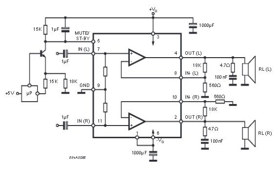 TDA7269 микросхема