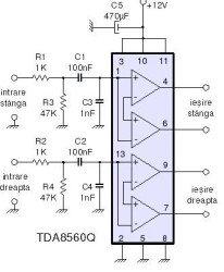 TDA8560 мостовой усилитель
