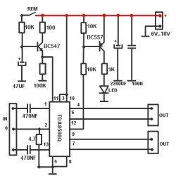 TDA8560 схема включения