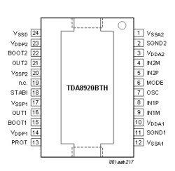 TDA8920 микросхема