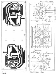 Печатная плата усилителя звука TDA7294