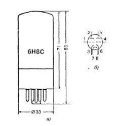 jelektronnaja lampa 6n8c