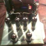 Двухтактная схема лампового усилителя 6п43п