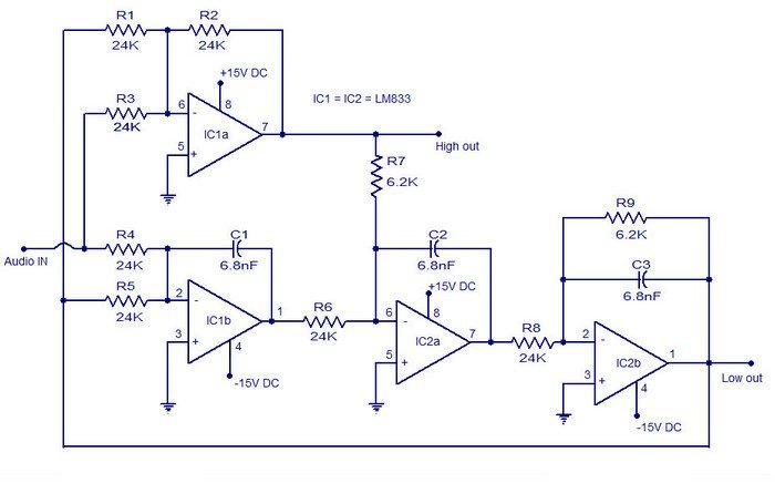 схема кроссовера для акустики