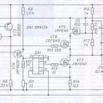 Транзисторный усилитель с выходным каскадом класса А для УМЗЧ без общей ООС