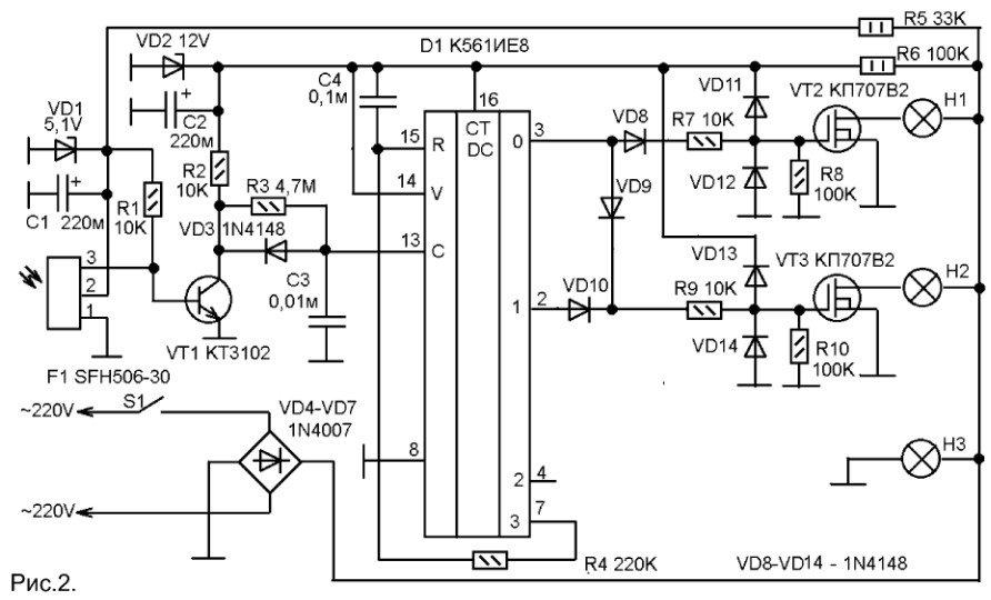 как работает полевой транзистор кп707в2