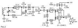 Радиоприемник на микросхеме cd4011