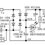 Доработка светодиодного светильника для работы от сети 220В