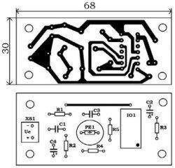 печатная плата элекронного таймера на микросхеме ne555