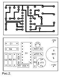 печатная плата звукового сигнализатора