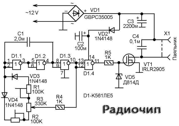 Схема регулятора мощности на 12 вольт 10 ампер своими руками 73