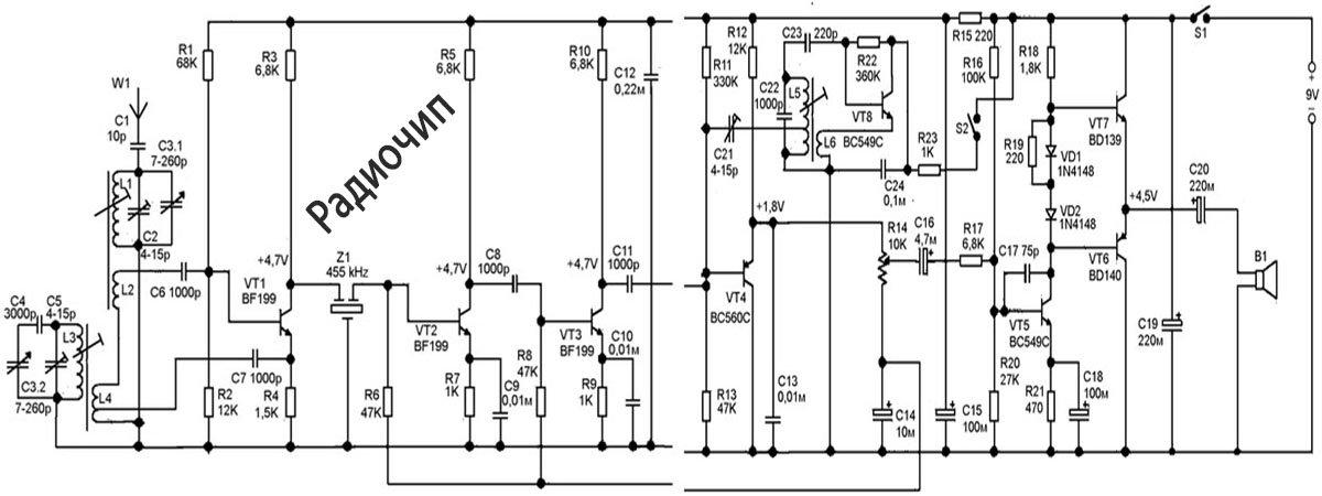 Радиоприемник на транзисторах своими руками: устройство и