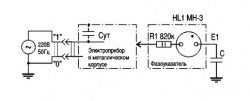 Схема фазоуказателя на неоновой лампе
