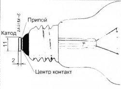 лампа накаливания через диод