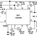Микросхема КА2206 усилитель мощности