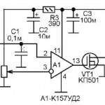 Индикатор температуры двигателя автомобиля