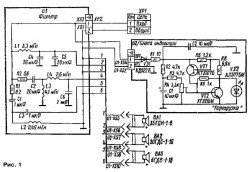 Cхема акустических колонок Radiotehnika S-30B