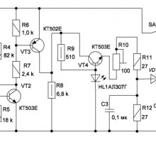Радиопередатчик маячок на 28 МГц для радиопеленгации