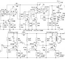 Радиопередатчик на 28 МГц для радиопеленгации