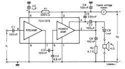 TDA1015 микросхема| усилитель