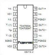 tda7053 схема подключения