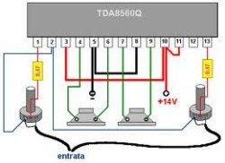 Мостовой усилитель TDA8560