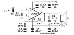 TDA2050 схема подключения