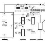 Схема усилителя на TDA2003